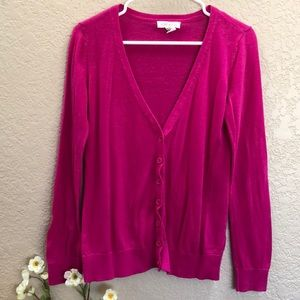 Forever 21 Pink Button Cardigan
